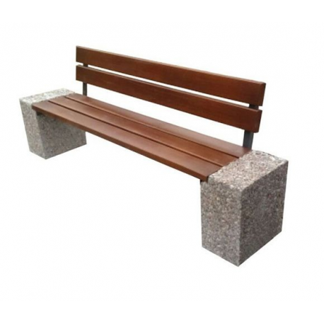 Ławka betonowa Industry 3 ZO